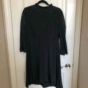 Marc by Marc Jacobs Black Lace/Silk Dress (sz 10)